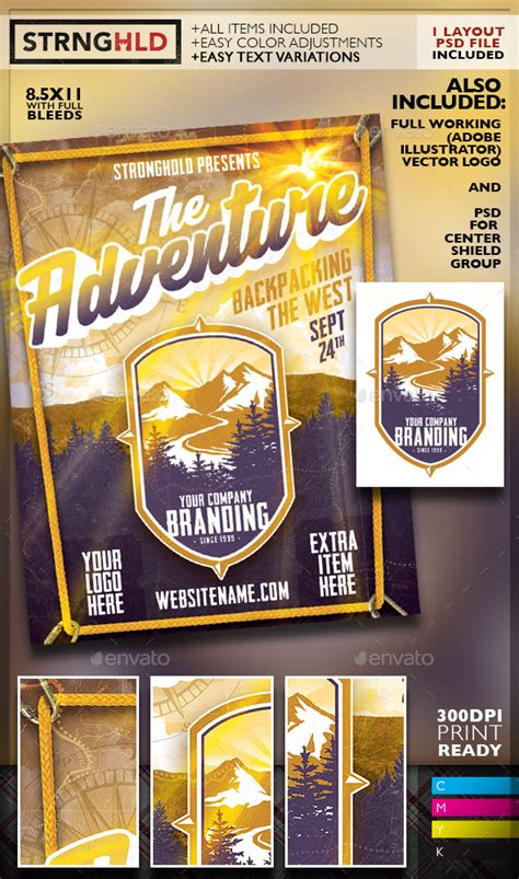 Outdoor Adventure Flyer Promo Kit Www Moderngentz Com Your Template Resource Photoshop Outdoor Flyer Template