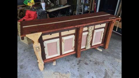 work bench base building a split top roubo style cabinet base mobile