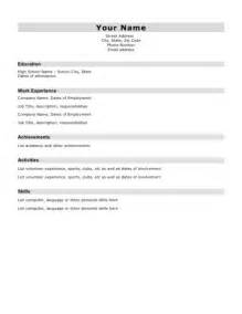 resume for students template basic student resume templates basic resume templates for