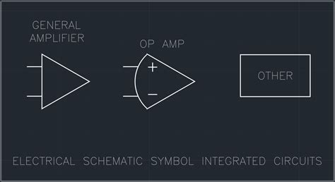 schematic symbol for integrated circuit electrical schematic symbol integrated circuits free cad block and autocad drawing