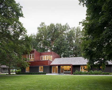 Home Design Addition Ideas Modern W A Side Of Ranch Modern Exterior Kansas
