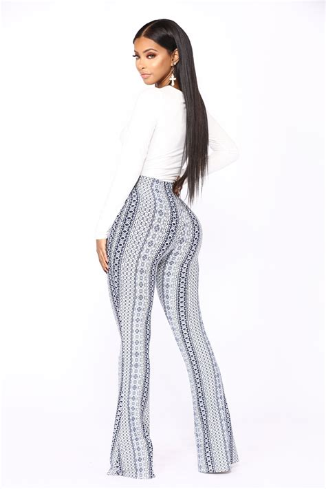 patterned jeans trend holly high rise printed pants navy