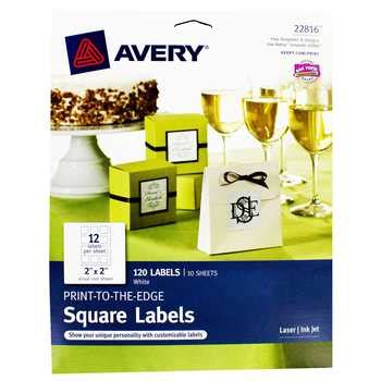 avery printable iron on labels avery laser ink jet printable square labels hobby lobby
