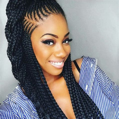 hairstyles with some braiding 2018 braided hairstyle ideas for black the style