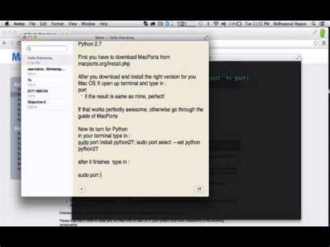 tutorial python mac os x installing opencv with python in mac os x youtube