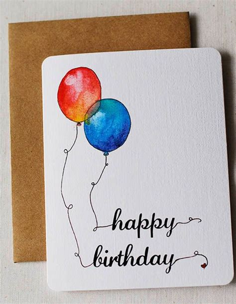 how to make watercolor greeting cards birthdays birthday cards and watercolors on