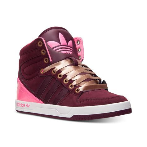 adidas womens originals court attitude casual sneakers from finish line in purple light maroon