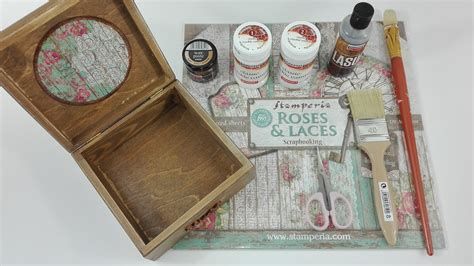 diy paper home decor diy wooden box with scrapbooking paper