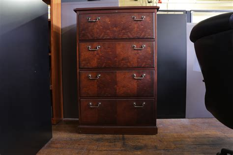 kimball wood  drawer lateral file cabinet peartree