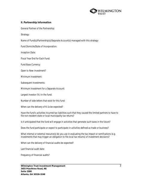 Side Letter Agreement Hedge Fund Hedge Fund Manager Questionnaire