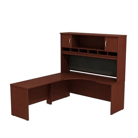 Mahogany Corner Desk Bush Business Series C 72w X 24d Lh Corner Desk With Hutch In Mahogany Src002mal