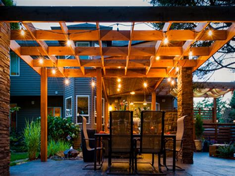outdoor lighting ideas best outdoor patio outdoor pergola lighting ideas