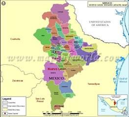 Nuevo Mexico Map by Nuevo Leon Map Nuevo Leon Mexico