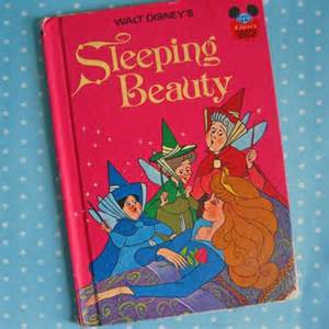 1974 vintage childrens book walt disney sleeping modandmint
