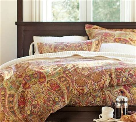 pottery barn king comforter rosalie paisley duvet cover king cal king red