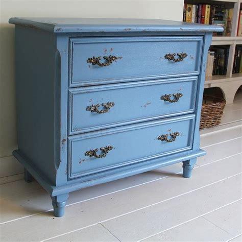 chalk paint gamma brocant blauw 3 laden kastje huisdecoratie die ik leuk