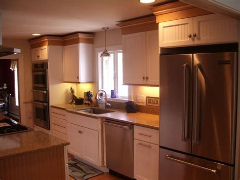 White cabinets, beadboard, kitchen cabinets, painted
