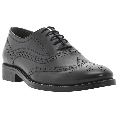 brogue oxford shoes dune animate leather brogue oxford shoes in black for