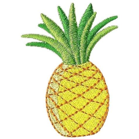 Kitchen Island Set pineapple machine embroidery design fruity by embroidalot