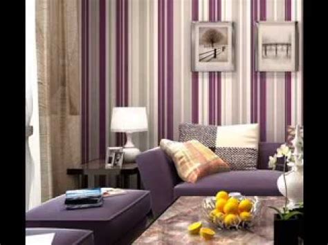 purple wallpaper design ideas for living room