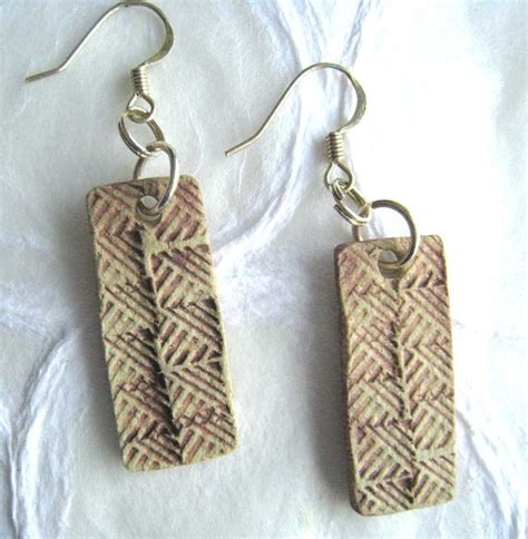 Paper Clay Jewelry - jewelry earrings made in ancient pale in paper clay