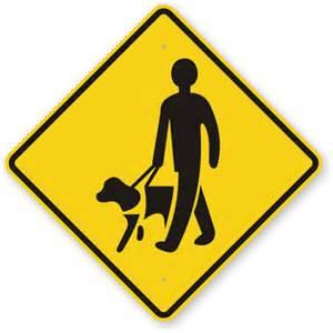 How Blind People Write Guide Dog Sign Blind Man Symbol Signs Sku K 9133