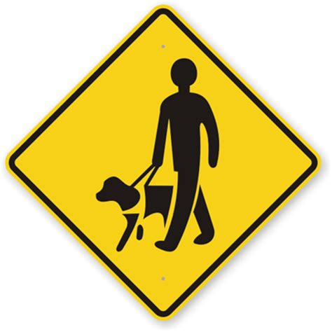 signs of in dogs guide sign blind symbol signs sku k 9133