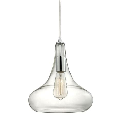 home decorators collection pendant lights home decorators collection 1 light polished chrome pendant