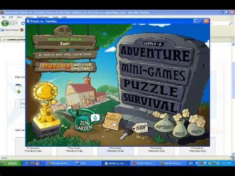 free download full version games zombie vs plant plants vs zombies free full version game of the year