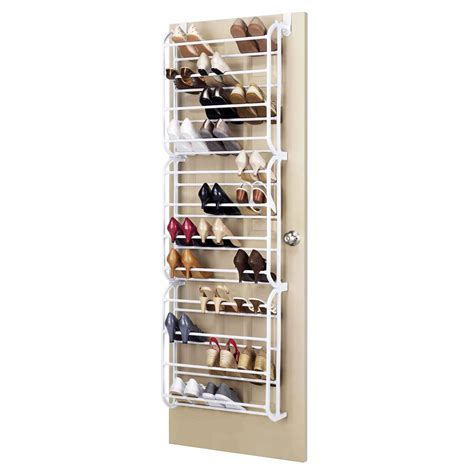 shoe rack hanging door hanging shoe rack white 36 pair 163 12 99 oypla