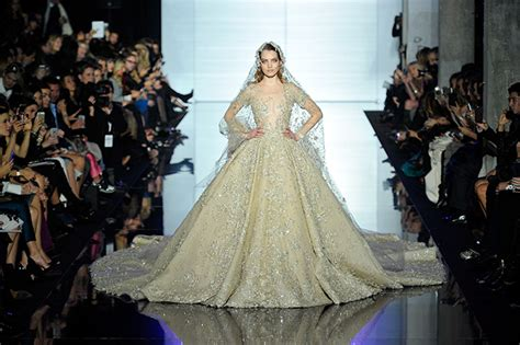 zuhair murad i walk into the room in gold the best wedding dresses from haute couture week
