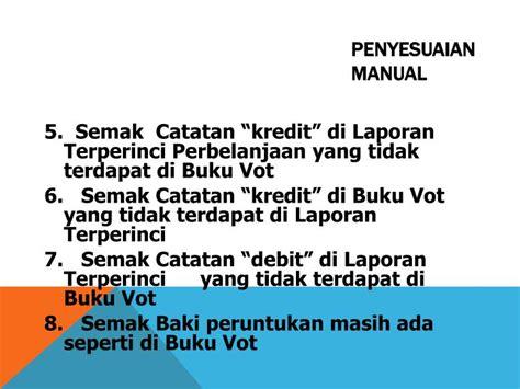 format buku vot manual ppt penyesuaian vot powerpoint presentation id 3044837