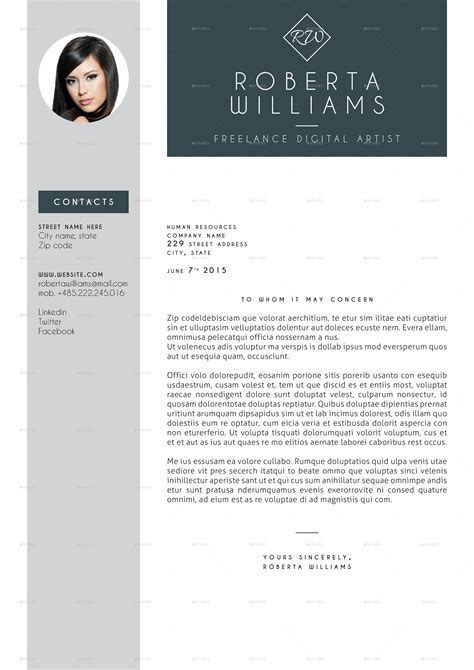 professional indesign templates professional resume cv indesign template by