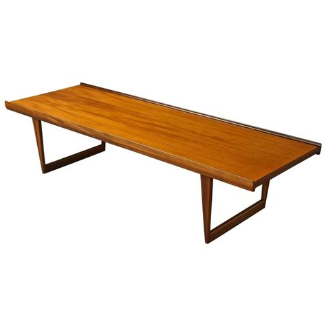 modern teak bench long danish mid century modern teak coffee table bench by