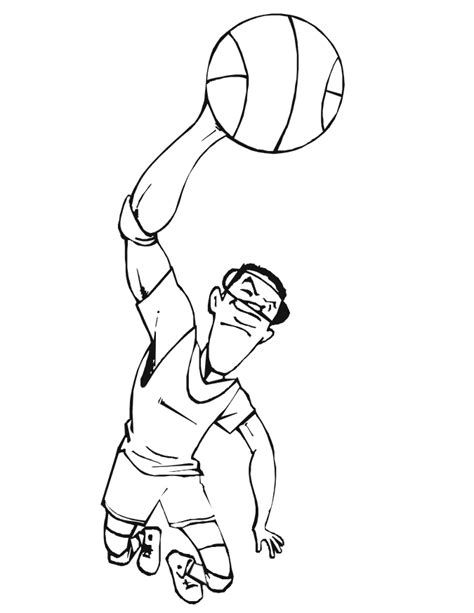 printable coloring pages basketball player basketball player coloring pages free printable pictures