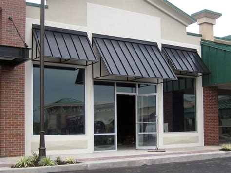 metal awnings for commercial buildings aluminum standing seam awning low maintenance awnings