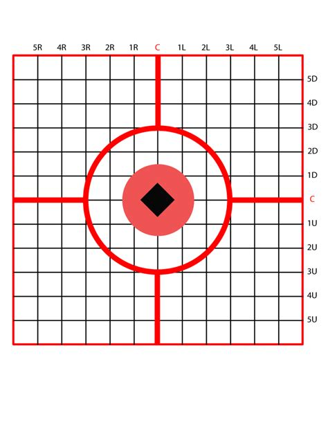 printable scope zeroing targets 1 4 moa 100 yard tagets pictures to pin on pinterest