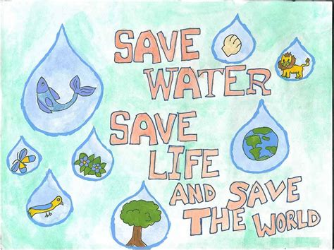 Drawing Contests For Kids To Win Money - save our water clean public water global good