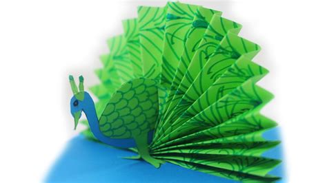 How To Make A Origami Peacock - origami peacock how to make a paper peacock easy