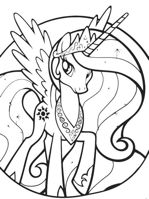 desenho de princesa celestia  colorir tudodesenhos
