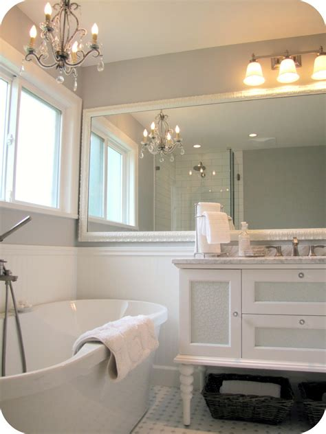 white and gray bathroom my house of giggles white and grey bathroom renovation makeover marble hex tile etc
