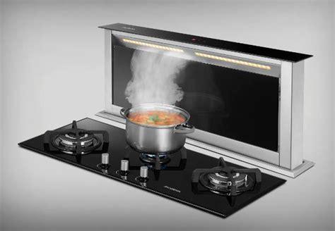 Kompor Meja Modena dapur cantik dengan penghisap asap downdraft