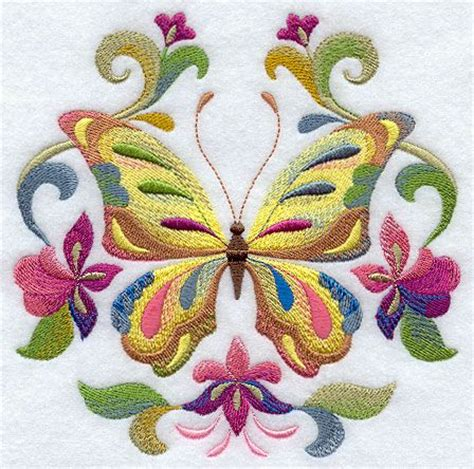 free butterfly hand embroidery spring into color butterfly circle embroidery machine