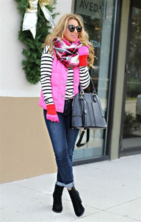 winter outfits ideas  pop colors  trendy girls