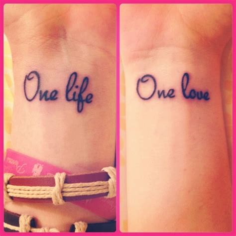 one life one love wrist tattoo my fav ink pinterest