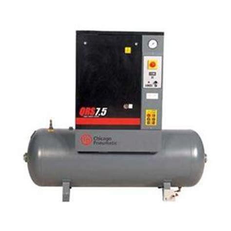chicago pneumatic 7 5 hp 3 qrs 21 2 scfm rotary air compressor