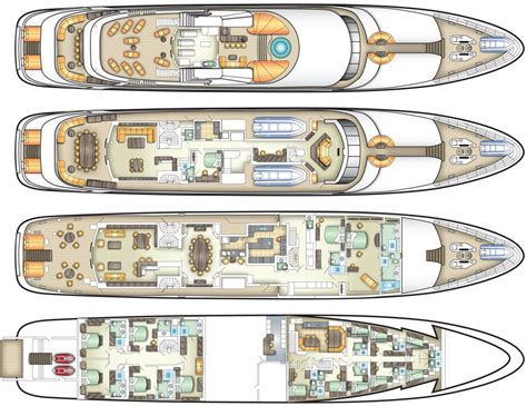 luxury yacht floor plans deck plans specifications and equipment cruise the