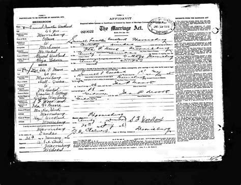 Marriages In Ontario Records Dissecting An Ontario Marriage License From 1916 Luxegen Genealogy And Family History
