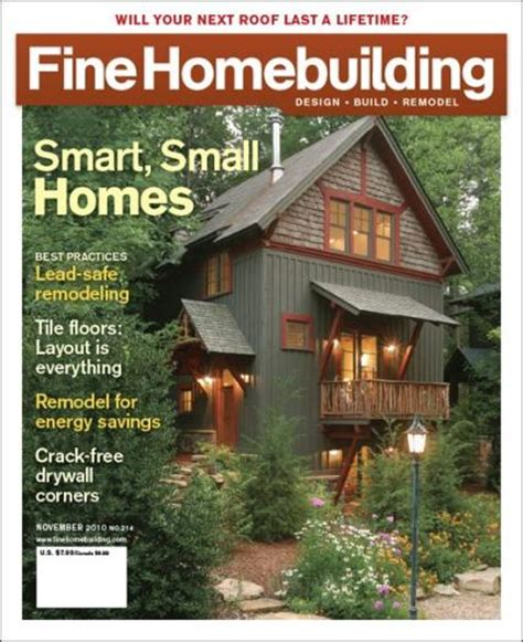 finehome building fine homebuilding magazine subscription