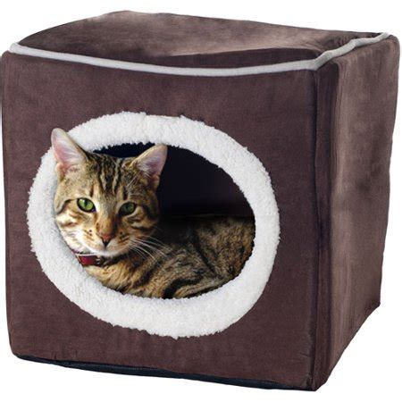 Enclosed Cat Bed by Paw Cozy Cave Enclosed Cube Pet Bed Walmart